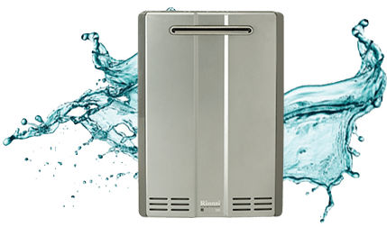 Tankless hot water heater delivering plentiful and immediately ready hot water